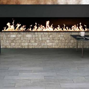 الخزف بلاط الأرضيات الخشبية تأثير DECAPAGE 22X90